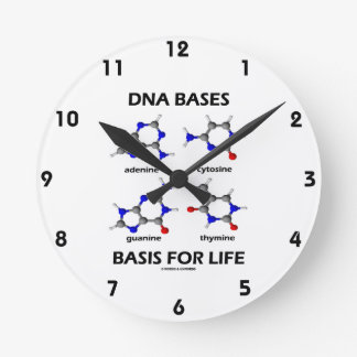 DNA Bases Basis For Life (Molecular Structure) Round Clock