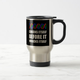 DNA Checks Wrecks Travel Mug