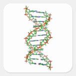 DNA - ciencia/científico/biología Pegatina Cuadrada
