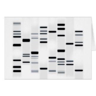 DNA Code Art Black on White Card