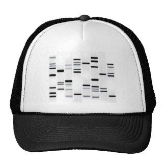 DNA Code Art Black on White Hat