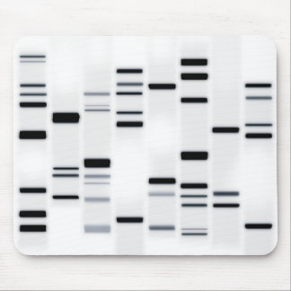 DNA Code Art Black on White Mouse Pad