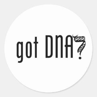 ¿DNA conseguida? Pegatina Redonda