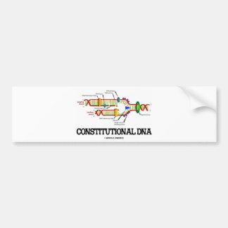 DNA constitucional (réplica de la DNA) Pegatina Para Auto