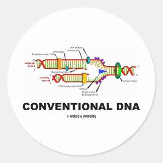 DNA convencional (réplica de la DNA) Pegatina Redonda