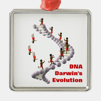 DNA Darwin's Evolution Metal Ornament