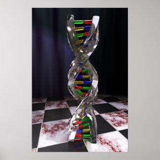 DNA del vidrio Poster