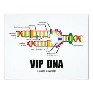 """DNA del VIP (humor de la réplica de la DNA) Invitación 4.25"""" X 5.5"""""""