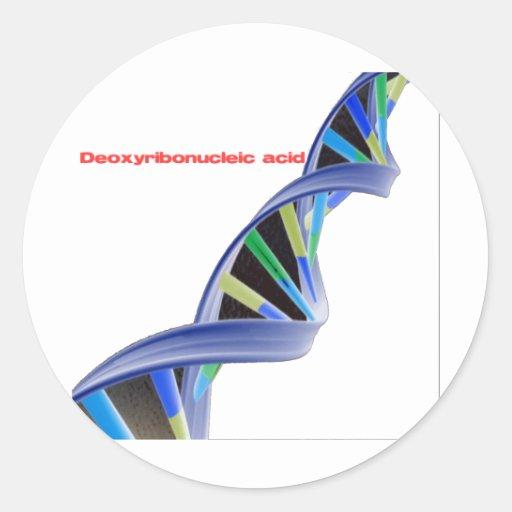 DNA - Deoxyribonucleic acid Classic Round Sticker