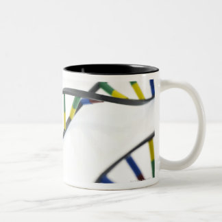 DNA (deoxyribonucleic acid) molecules. Two-Tone Coffee Mug