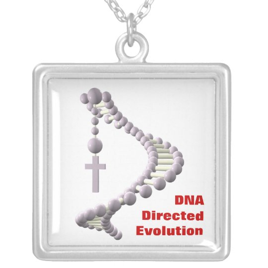 DNA Directed Evolution Silver Plated Necklace