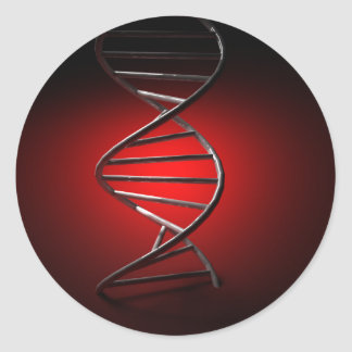DNA Double Helix Classic Round Sticker