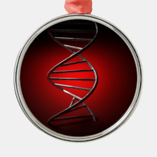 DNA Double Helix Metal Ornament