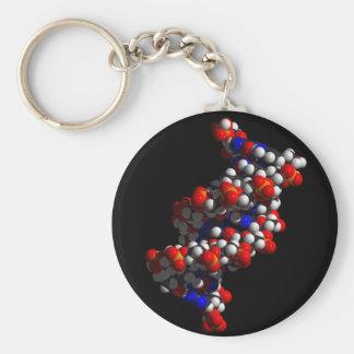 DNA Double Helix Model Keychain