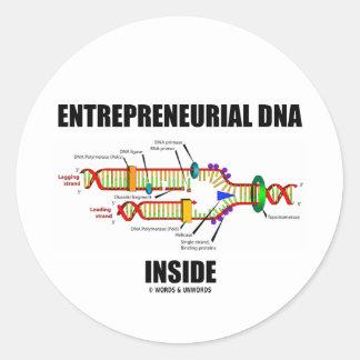 DNA emprendedor dentro Pegatina Redonda