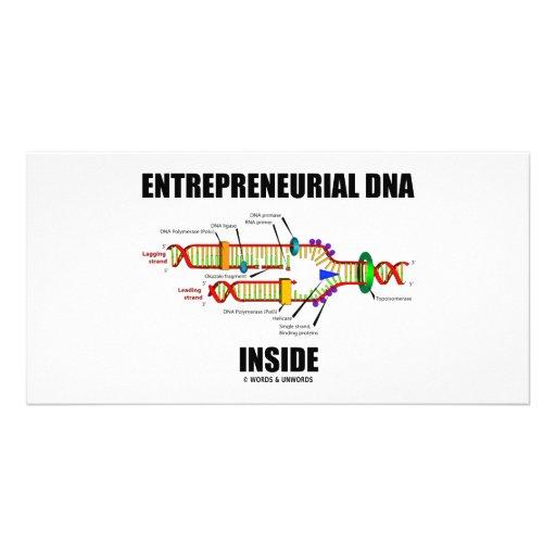 DNA emprendedor dentro Tarjeta Fotografica