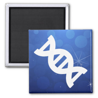 Dna Flows Pictograph 2 Inch Square Magnet