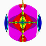 DNA - Fractal Art Ceramic Ornament