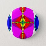 DNA - Fractal Art Pinback Button