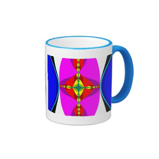 DNA - Fractal Art Ringer Coffee Mug