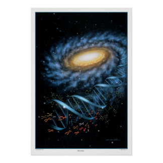 DNA Galaxy Print
