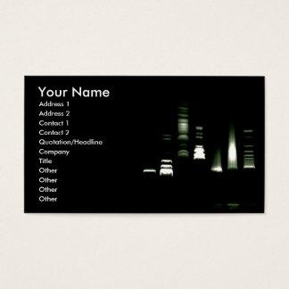 DNA Gel Electrophoresis Business Card (inverted)