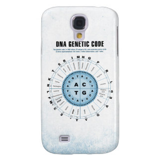 DNA Genetic Code Chart Samsung Galaxy S4 Cases