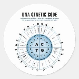 DNA Genetic Code Chart Classic Round Sticker