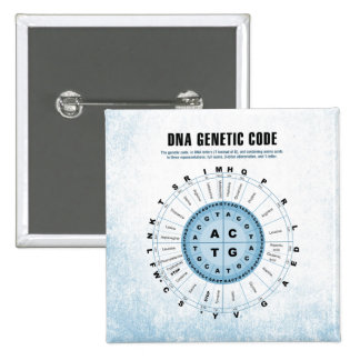 DNA Genetic Code Chart Pinback Button