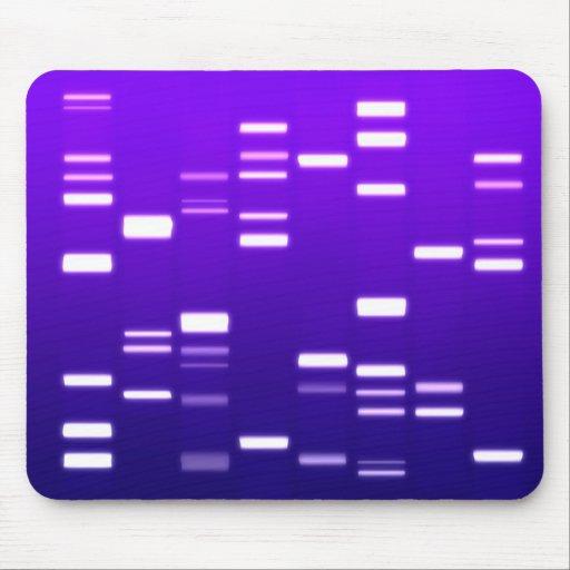 DNA Genetic Code Purple Mousepads