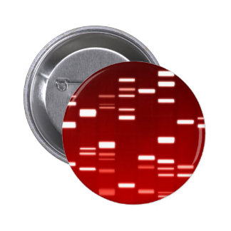 DNA Genetic Code Red Pinback Button