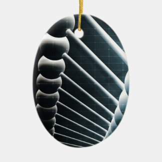 DNA Helix Abstract Background as a Science Concept Ceramic Ornament