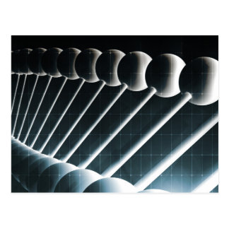 DNA Helix Abstract Background as a Science Concept Postcard