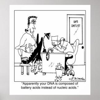 DNA integrada por los ácidos de batería Póster