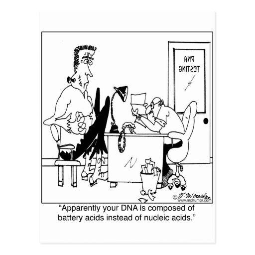 DNA integrada por los ácidos de batería Tarjeta Postal