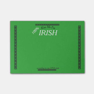 DNA - Kiss Me I'm Irish - Customize the Amount! Post-it Notes