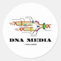DNA Media Round Stickers