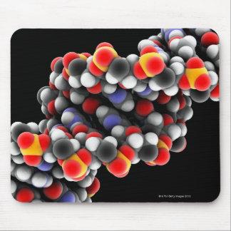 DNA molecule. Molecular model of DNA Mouse Pad