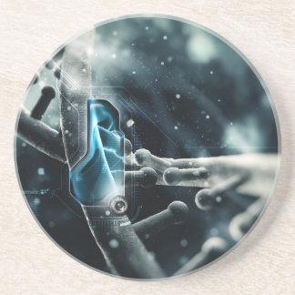 DNA Nano Abstract Coaster