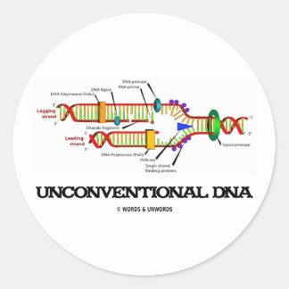 DNA poco convencional (humor de la réplica de la Pegatina Redonda
