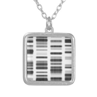 DNA Print - Silver Plated Necklace