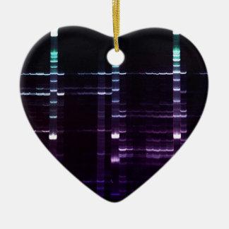 DNA que ordena el gel 2 Adorno Navideño De Cerámica En Forma De Corazón