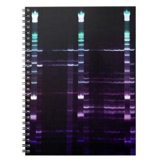 DNA que ordena el gel 2 Spiral Notebooks