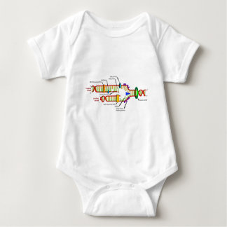 DNA replication Baby Bodysuit