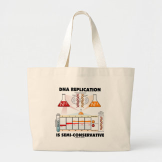 DNA Replication Is Semi-Conservative Large Tote Bag