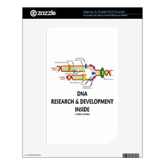 DNA Research & Development Inside NOOK Color Decals