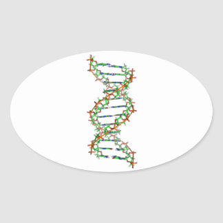 DNA - science/scientist/biology Oval Stickers