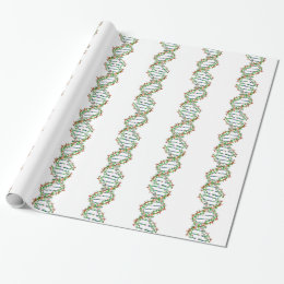 DNA - science/scientist/biology Wrapping Paper