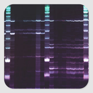 DNA Sequencing Gel 2 Square Sticker