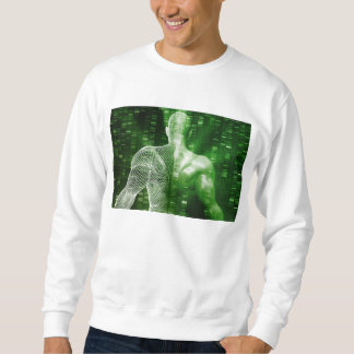 DNA Sequencing or Sequence as a Science Abstract Sweatshirt